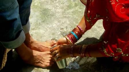 Fußwaschung Nepal