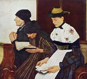 Leibl Frauen in der Kirche