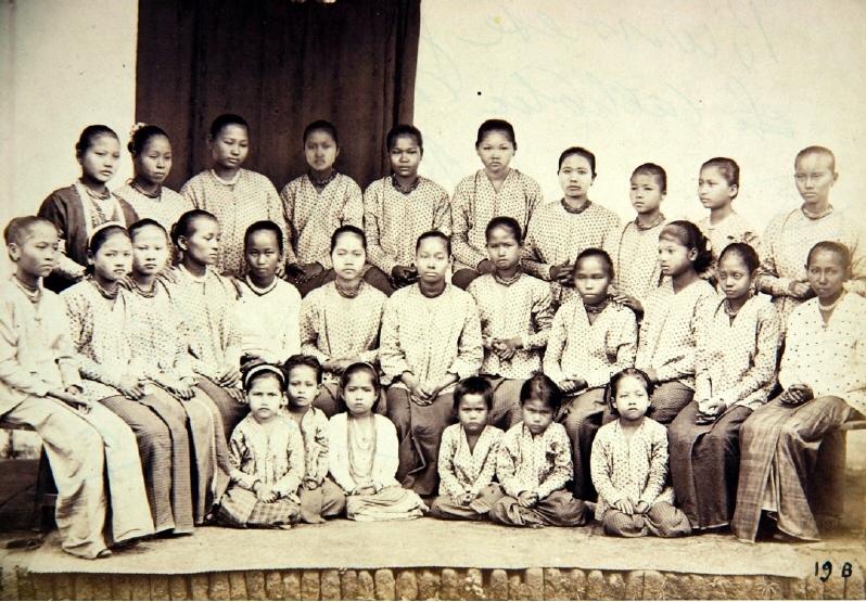 Missionsschule für Mädchen in Birma