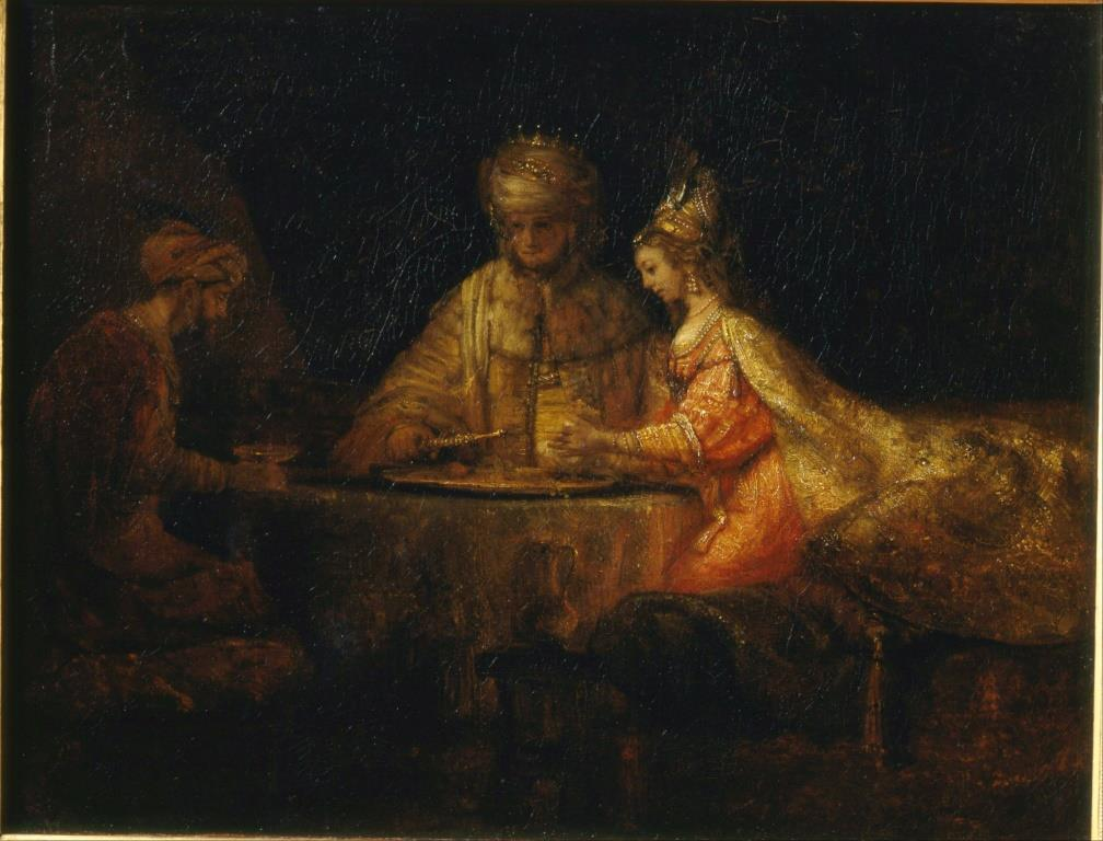Rembrandt - Ahasuerus and Haman at the Feast of Esther