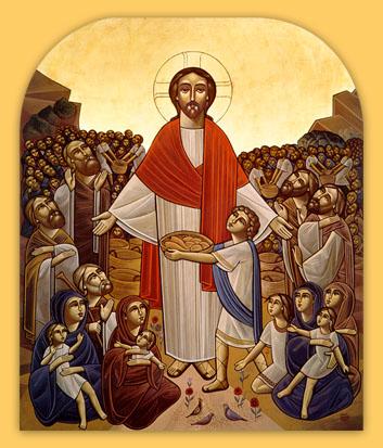 Christus speist die Menge