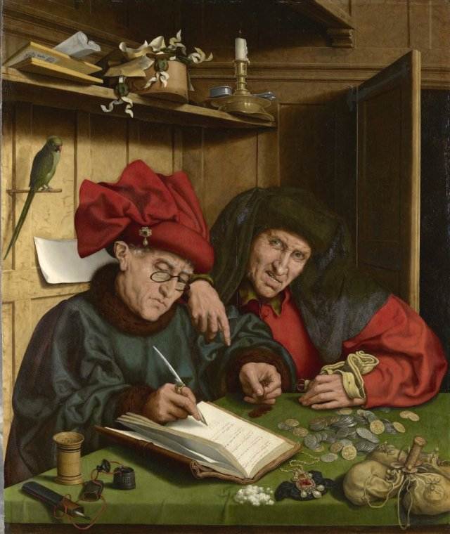Marinus van Reymerswaele (1497-1567) - Die Wucherer