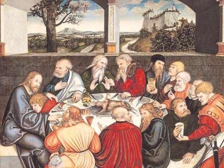 Lucas Cranach d. J. - Luther beim Abendmahl