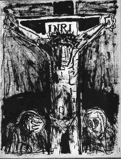 Otto Dix - Es ist vollbracht (Lithographie 1960)