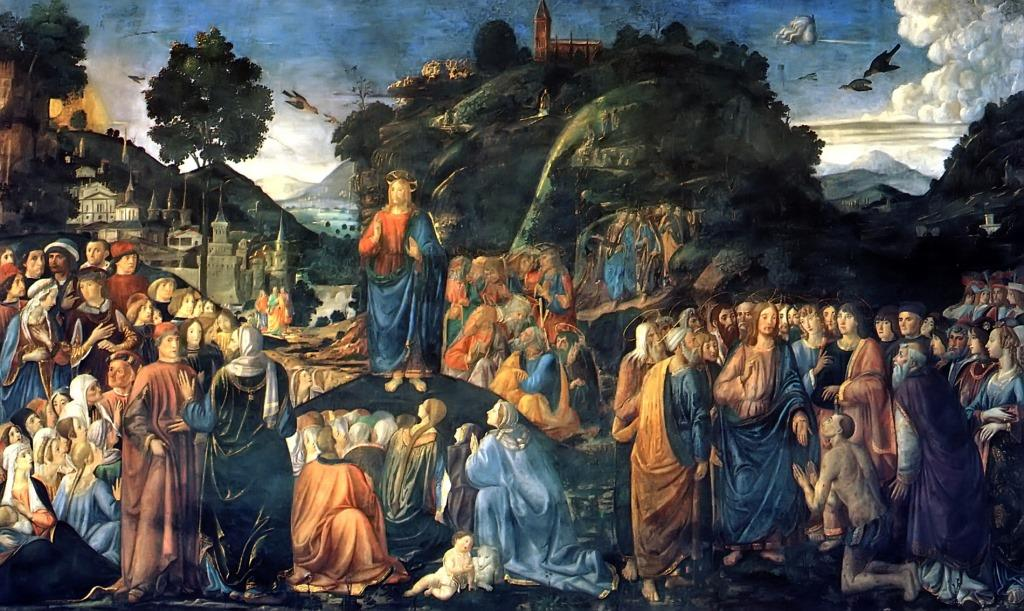 Sermon On The Mountwith the Healing of the Leper Cosimo Rosselli, 1481