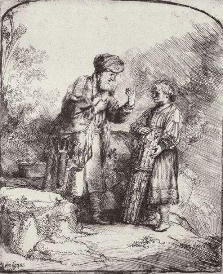 Rembrandt Abraham Isaak