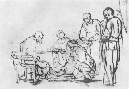 Rembrandt - Fußwaschung