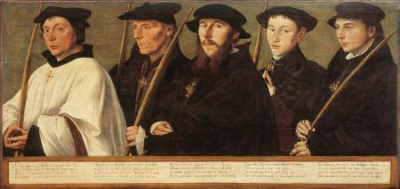 Jan van Scorel - Fünf Mitglieder der Utrechter Bruderschaft der Jerusalempilger (1541)