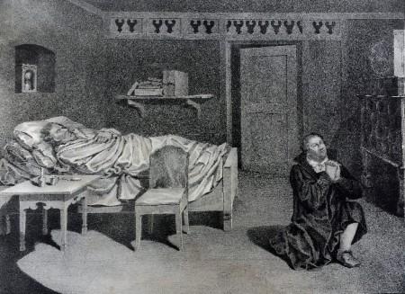 Wilhelm_von_Lowenstern_Martin_Luther im Gebet für Melanchthon