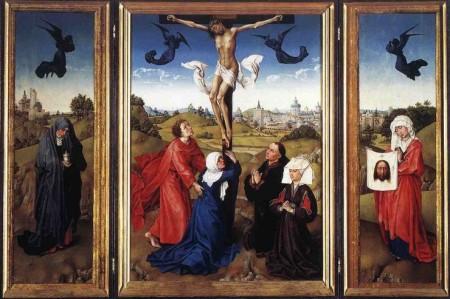 Weyden - Crucifixion (Triptych)