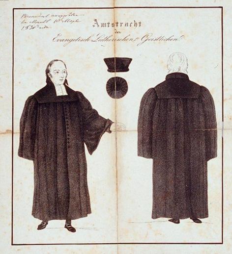 Amtstracht eines lutherischen Geistlichen