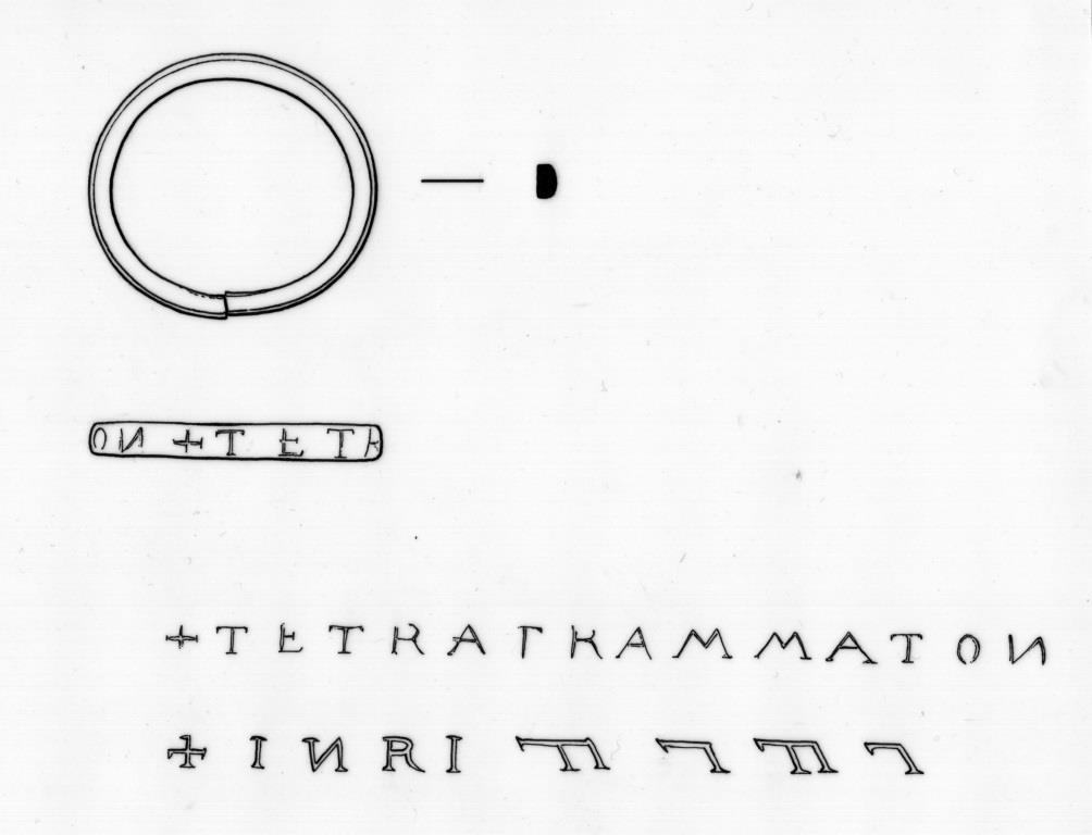 St. Laurentius Tetragrammaton-Ring (Zeichnung)