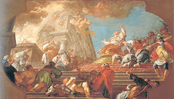 Giuseppe Bonito - Salomons Tempelweihegebet (1750)