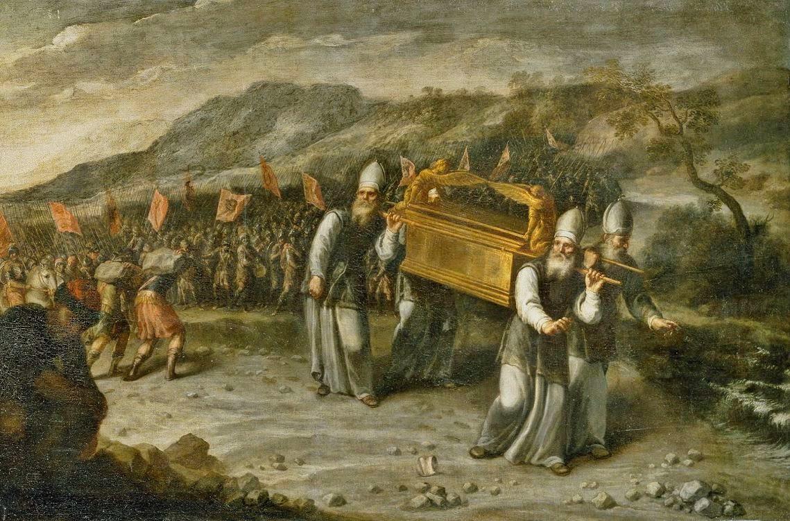 Juan Montero de Rojas -  Die Durchquerung des Jordans mit der Bundeslade (1667, Prado)