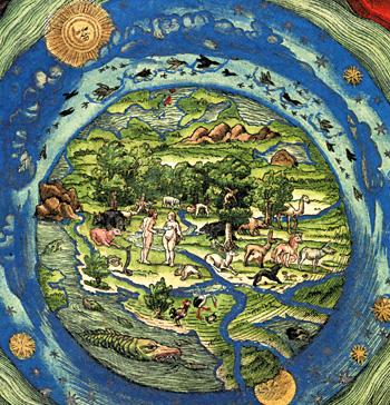 Das Paradies (aus der Luther-Bibel von 1534)