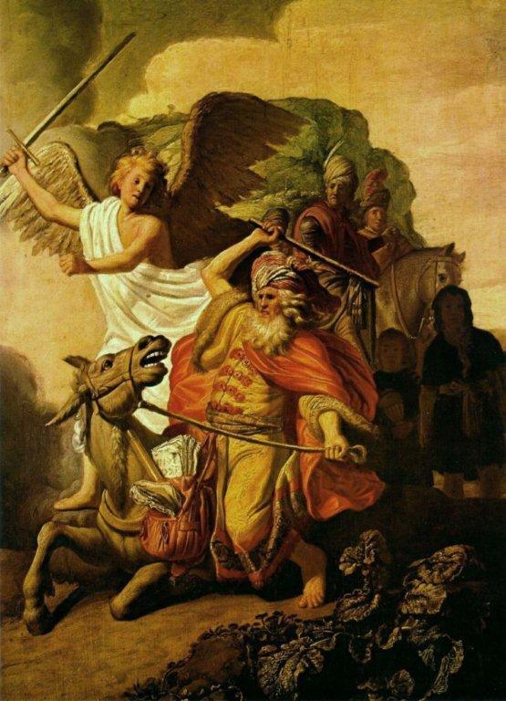 Rembrandt - Bileam und die Eselin (1626)