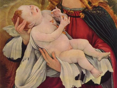 Matthias Grünewald, Geburt Jesu (Ausschnitt aus dem Isenheimer Altar)