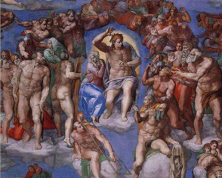 Michelangelo Jüngstes Gericht, 1534-1541 Rom, Città del Vaticano, Sixtinische Kapelle (Ausschnitt)