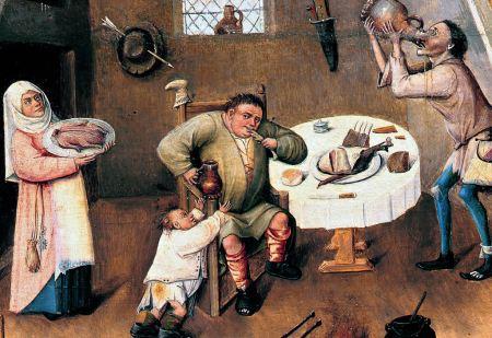 Völlerei (aus Hieronymus Boschs Gemälde