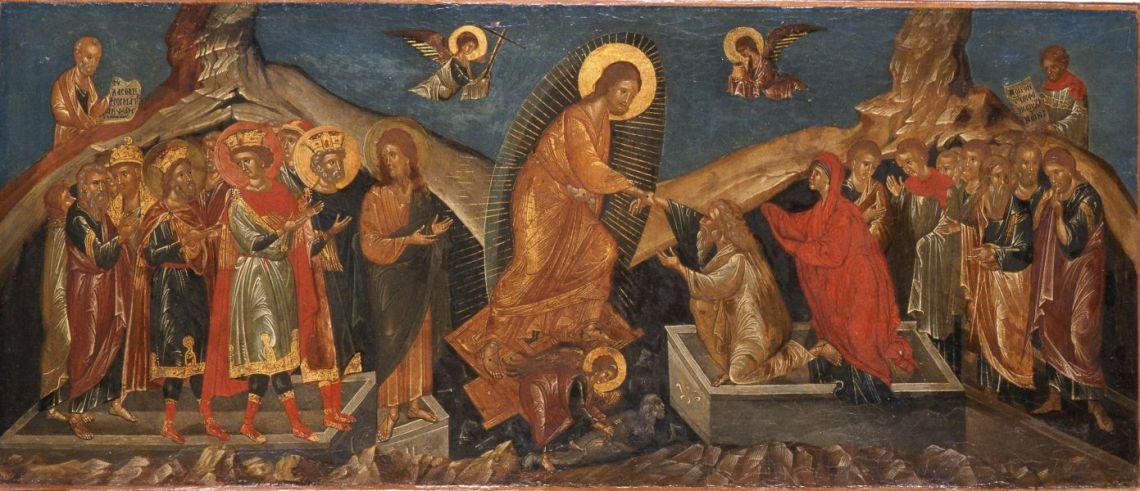 Höllenfahrt Christi. (Griechisch-mazedonische Schule Anfang 17. Jahrhundert - Lindenau-Museum Altenburg)