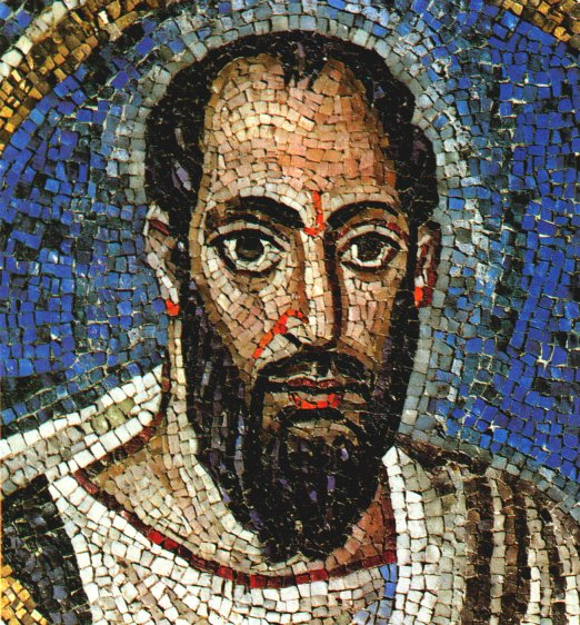 Paulus (Mosaik aus dem 5. Jahrhundert, im Oratorium St. Andrea in Ravenna)