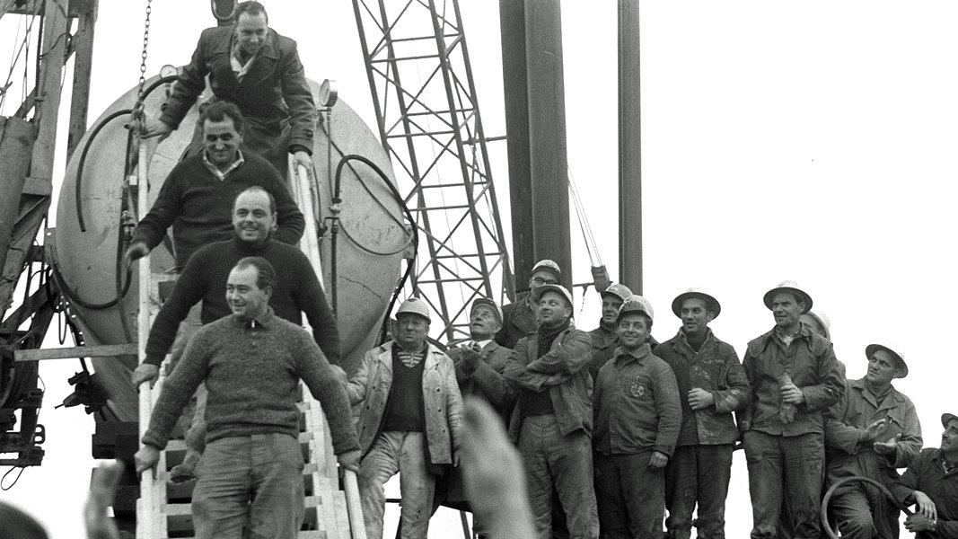 rettung-von-eingeschlossenen-bergleuten-beim-grubenungluck-von-lengede-1963