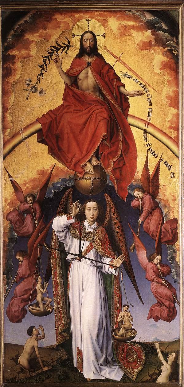 Rogier van der Weyden - Das Jüngste Gericht (Mittelbild des Polyptychon)