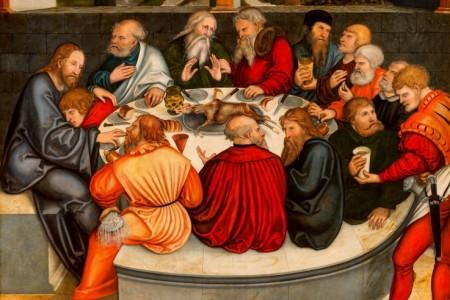 Lucas Cranach d.Ä./Lucas Cranach d.J. – Wittenberger Reformationsaltar 1547/1548 in der Stadtkirche St. Marien (Ausschnitt aus der Mitteltafel)
