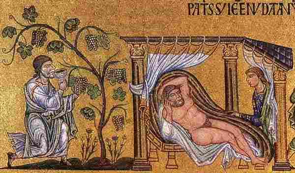 Noah und Ham (altkirchliches Mosaik)