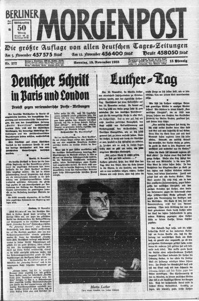 Berichterstattung Luthertag (Morgenpost)
