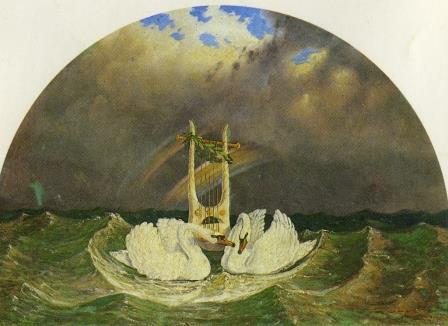 Carl Gustav Carus: Allegorie auf Goethes Tod, nach 1832
