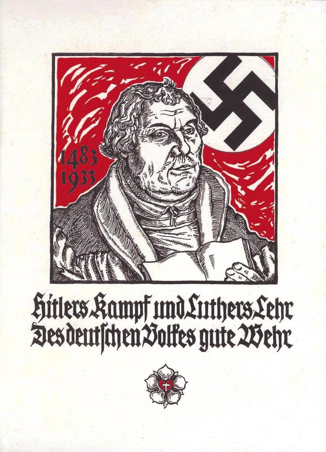 Plakat 1933 mit Hakenkreuz