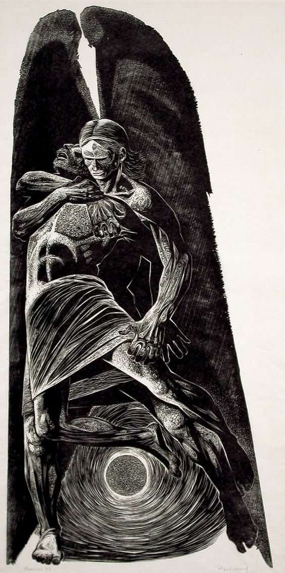 Lynd Ward - Jacob Wrestles with the Angel (1967)