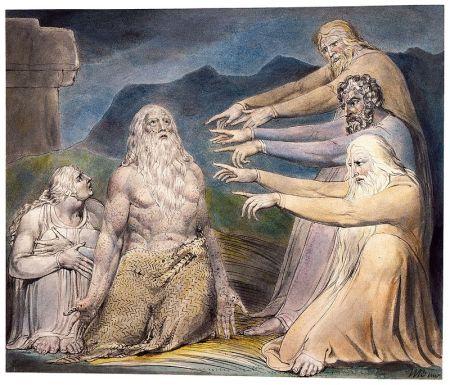 William Blake - Hiob wird von seinen Freunden zurechtgewiesen (1801)