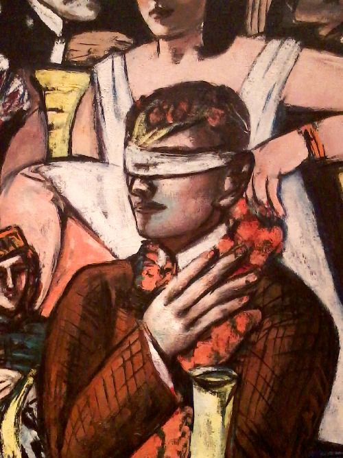 Max Beckmann - Ausschnitt aus dem Triptychon Blinde Kuh (1945)