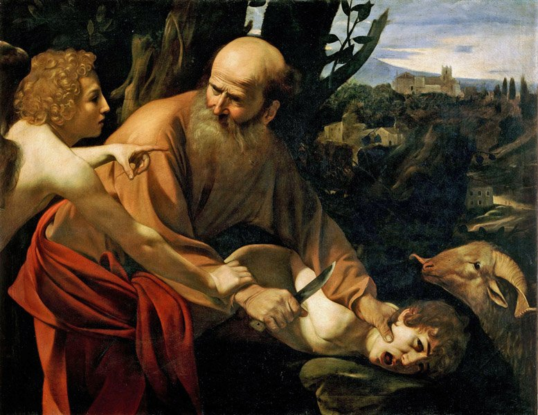 Caravaggio - Die Opferung Isaaks