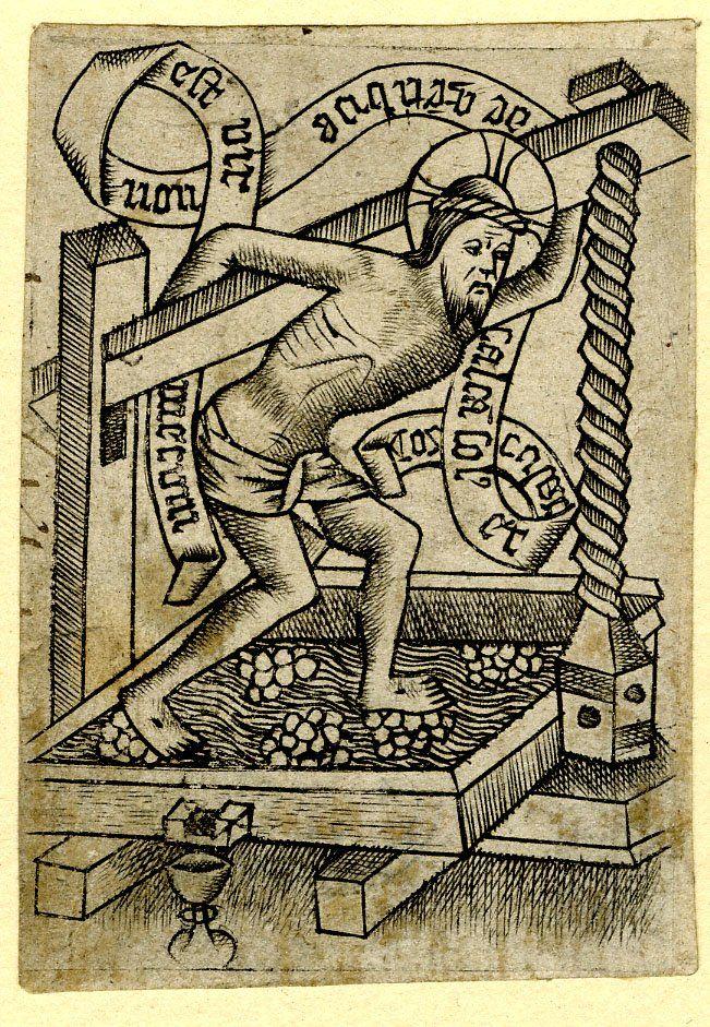 Christus in der Kelter - Meester van het Martyrium der Tienduizend (1463-1467)