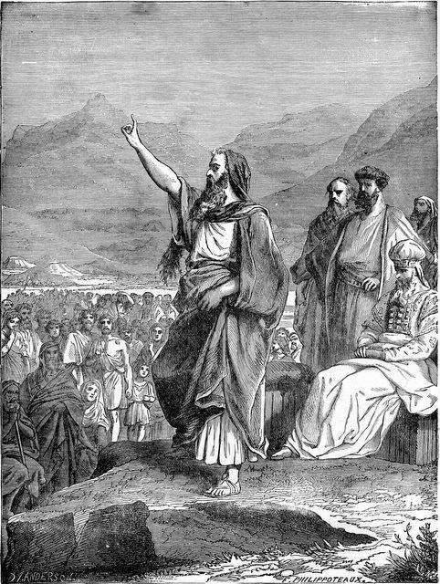 Mose legt dem Volk Israel das Gesetz jenseits des Jordans im Land Moab aus (5Mose 1)