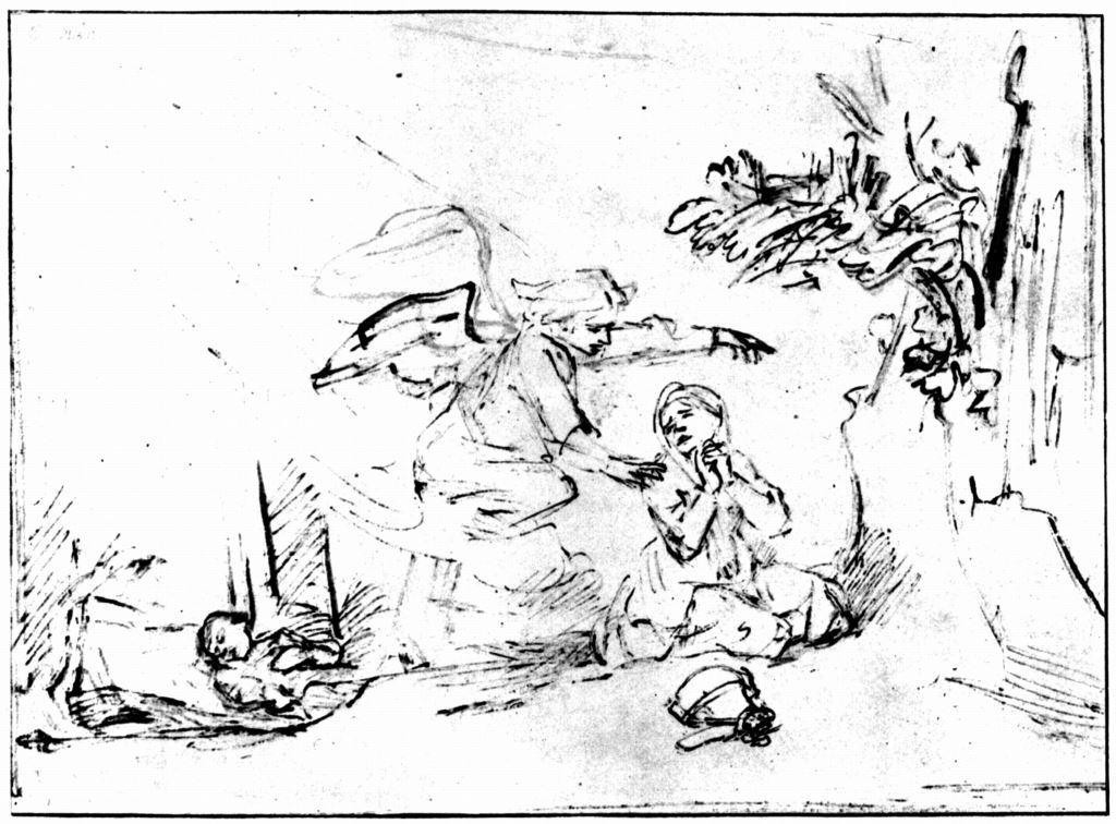 Rembrandt - Der Engel weist Hagar den rettenden Brunnen