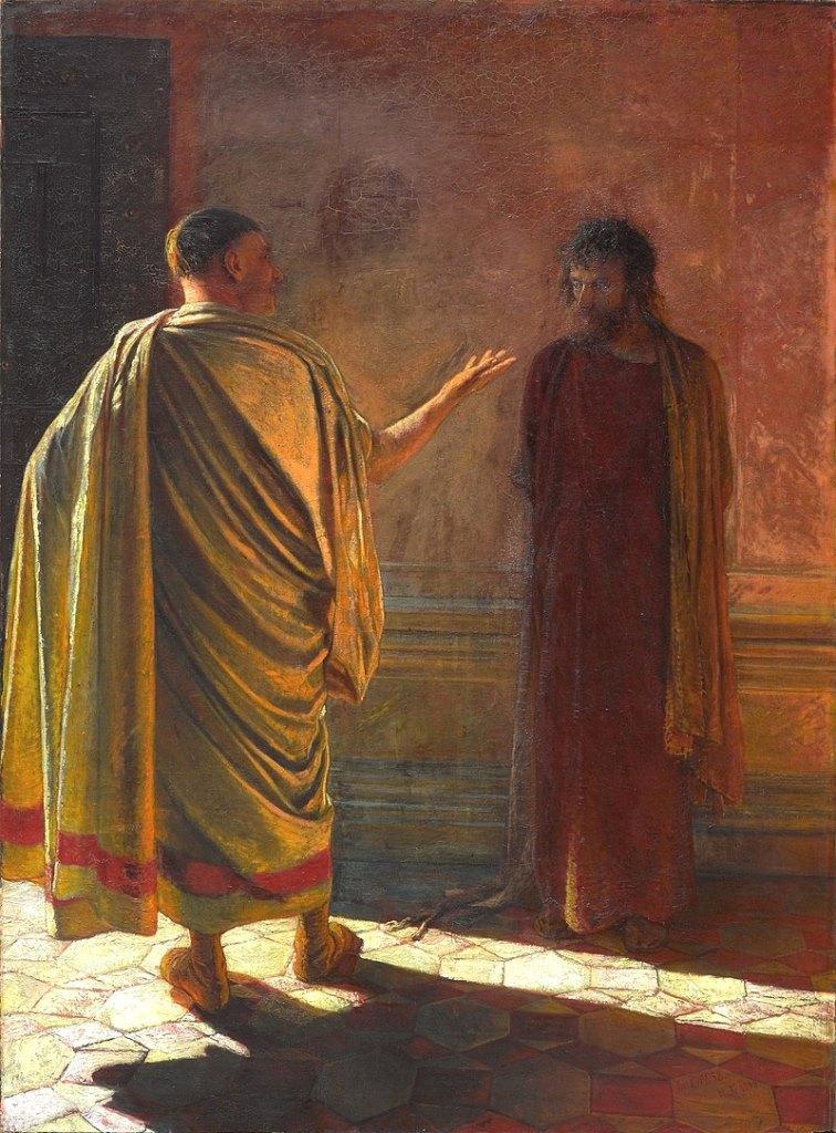 Nikolai Nikolajewitsch Ge - Pontius Pilatus und Jesus nach Joh 18,38