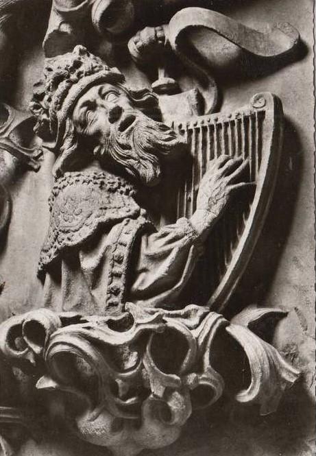 König David mit Harfe (Wormser Dom 1483)