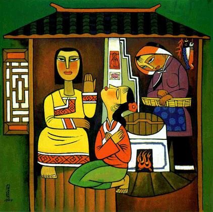 He Qi - Maria und Martha 2