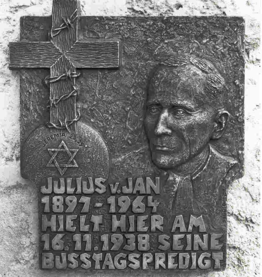 Julius von Jan Gedenktafel