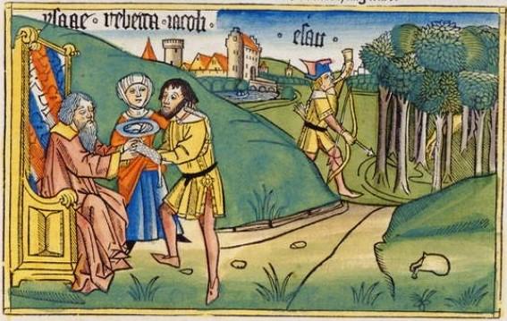 Jakob erhält den Segen seines Vaters Isaak (Genesis 27, 28f)