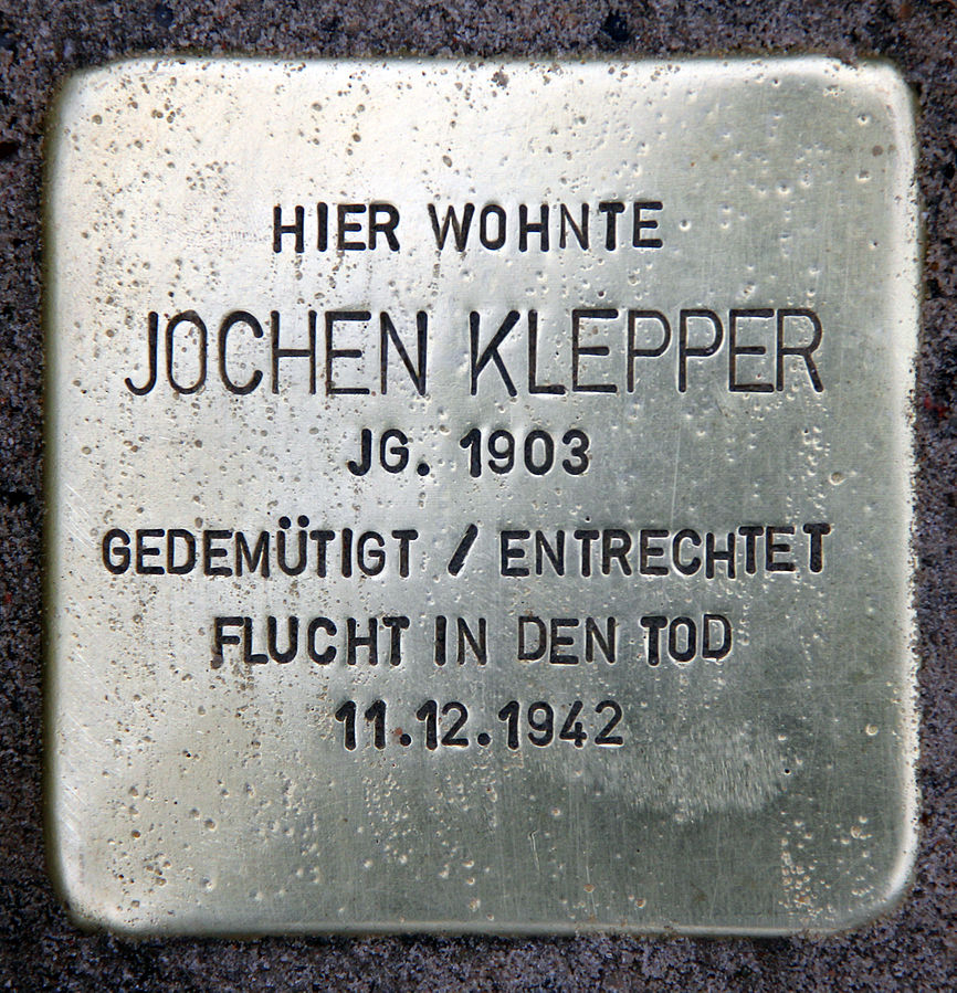 Stolperstein_Teutonenstr_23_(Nikol)_Jochen_Klepper