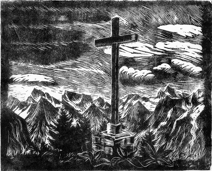 Wilhelm Groß - Kreuz im Gebirge (1938)