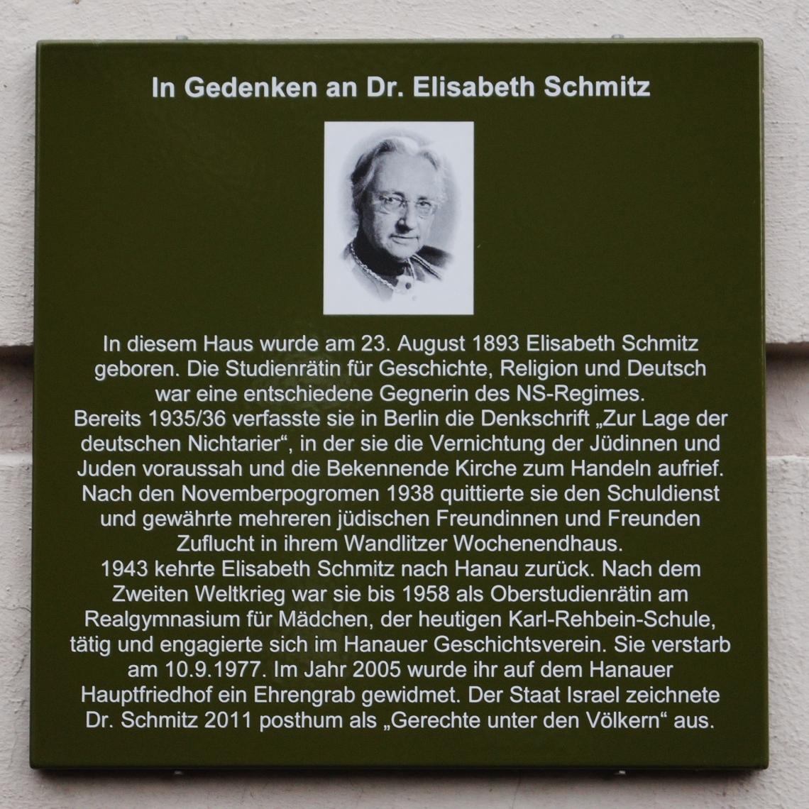 Gedenktafel_Elisabeth_Schmitz_Hanau_01