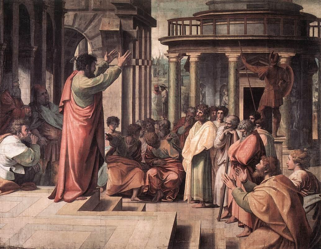 Raphael - Der Apostel Paulus predigt auf dem Areopag in Athen (1515)