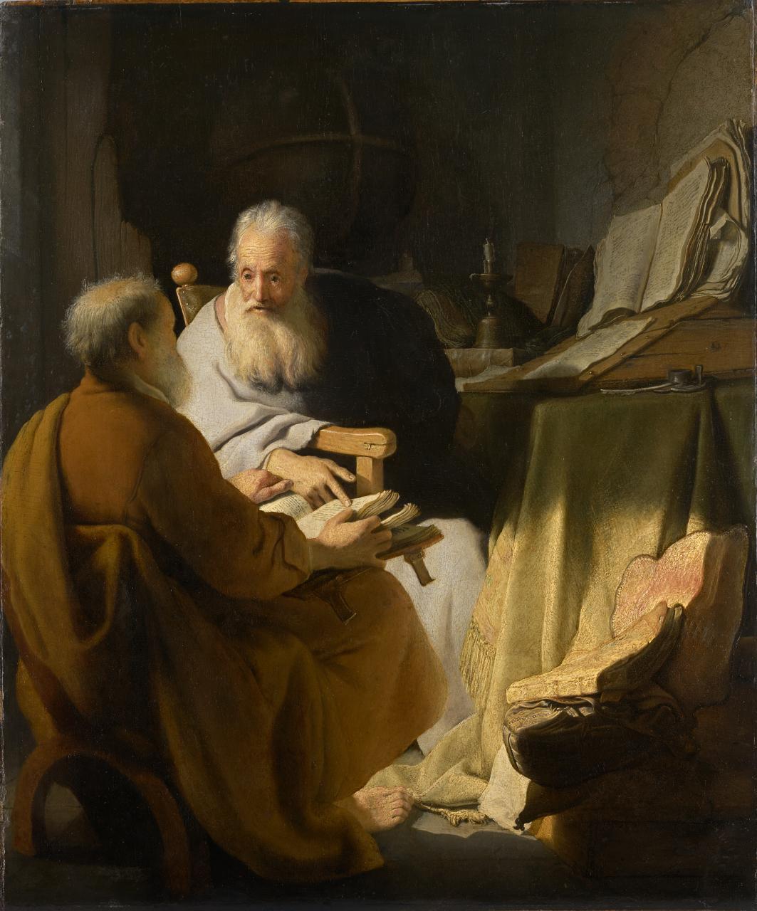 Rembrandt - Petrus und Paulus im Gespräch (1628 Melbourne)