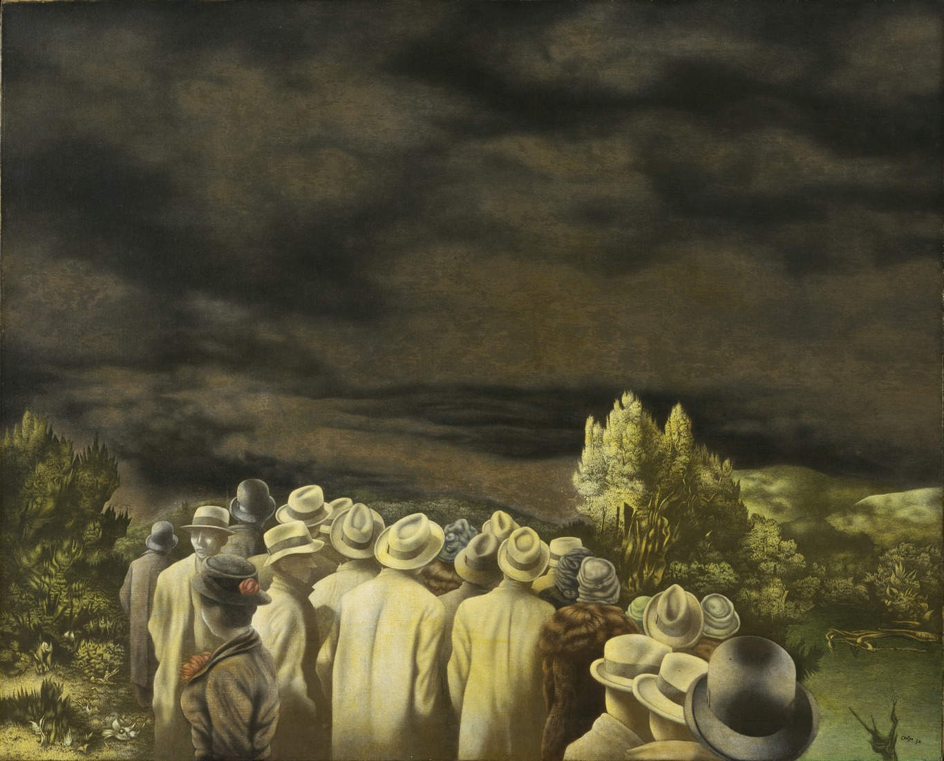 Richard Oelze, Erwartung (Gemälde 1935/36, Museum of Modern Art, New York)